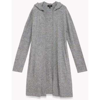 【Theory】Wool Cotton Hood Open Cardi L