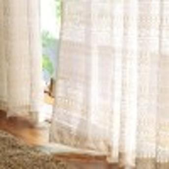 ナチュラル綿混レースカーテン[日本製]