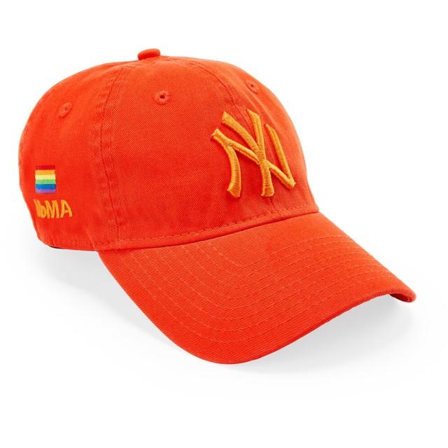 NY ヤンキース Pride キャップ オレンジ
