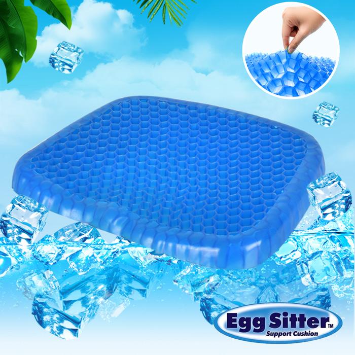 【Egg Sitter】蜂巢式凝膠水感降溫冰涼墊/坐墊 (藍)