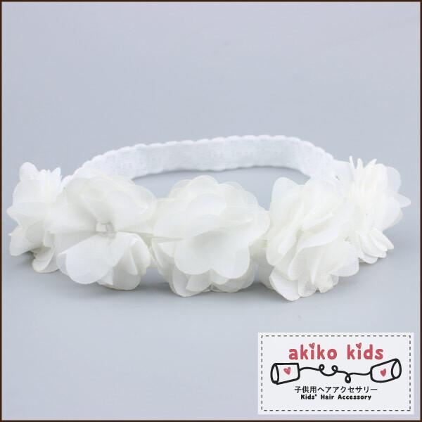 akiko kids甜美蕾絲5朵花造型0.3-18月寶寶髮帶