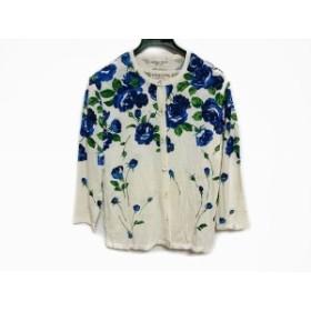 ユキコハナイ YUKIKO HANAI アンサンブル サイズ9A レディース 白×ネイビー×グリーン 花柄【中古】20190808