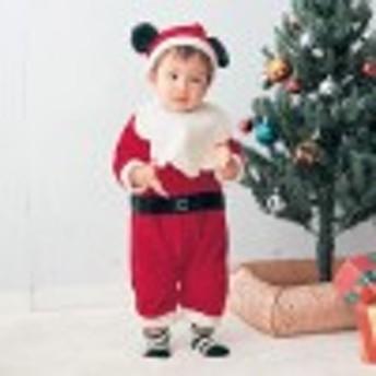 サンタカバーオール【ベビー服】【男の子 女の子】/ミッキーマウス