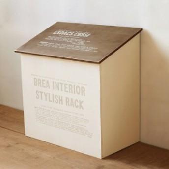 おしゃれ 2分別ダストボックス フタ付きゴミ箱 BREA-1715