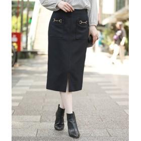 La Totalite 《予約》タスランビットタイトスカート◆ ネイビー 38