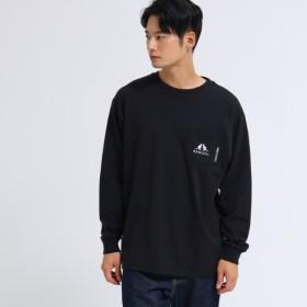 [マルイ] KANGOL カンゴール 別注 ビッグ 長袖 ポケット Tシャツ/ベース ステーション(メンズ)(BASE STATION Mens)