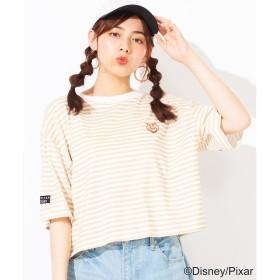 WEGO WEGO/TOYSTORY別注ワンポイントTシャツ(ベージュ系)【返品不可商品】