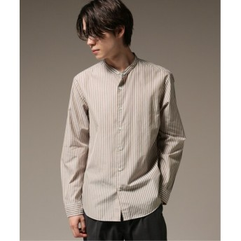 417 EDIFICE パターンノーカラーシャツ ベージュ A M