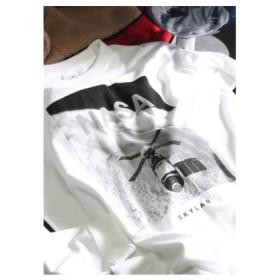 (Men's Bigi/メンズビギ)NASAコラボロングスリーブTシャツ/メンズ ホワイト 送料無料