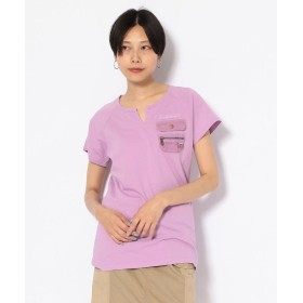 【30%OFF】 アヴィレックス #キーネックポケットティーシャツ/ NEW KYE NECK POCKET T SHIRT レディース LAVENDER L 【AVIREX】 【セール開催中】