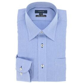 【TAKA-Q:トップス】形態安定レギュラーフィットレギュラーカラー長袖ビジネスドレスシャツ