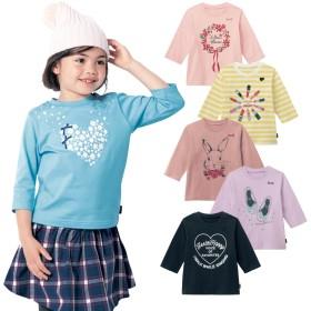 七分袖Tシャツ【子供服 女の子】