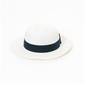 【COMME CA ISM:帽子】【キッズ・ベビーおそろいアイテム】リボン付 ペーパー キャペリン