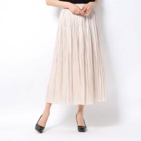ルーミィーズ Roomy's シャイニープリーツスカート (ベージュ)
