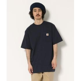 アンカットバウンド carhartt(カーハート) Workwear Pocket SS TーShirts メンズ NAVY S 【UNCUT BOUND】