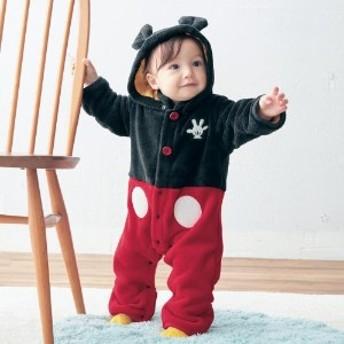 あったかモコモコジャンプスーツ【ベビー服】【男の子 女の子】/ミッキーマウス