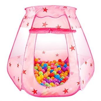 LeHom ボールプール ベビーサークル 折り畳み式 コンパクト 収納バッグ付き 屋内遊具 室内室外 ・ (ピンク)