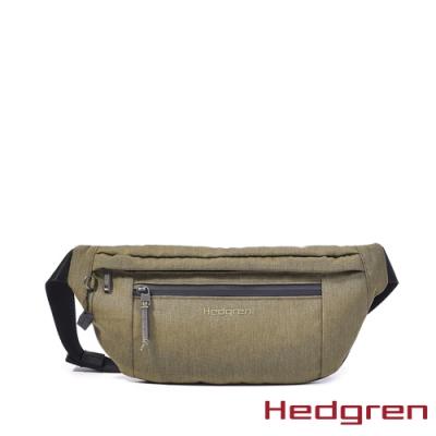 【Hedgren】MIDWAY防水拉鍊 腰包-草綠