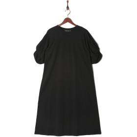 MARTHA・Sneak ツイストスリーブロングワンピース○16626 ブラック ワンピース