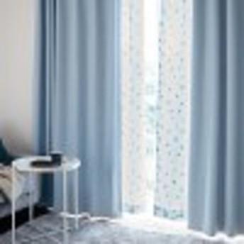 遮光・遮熱・形状記憶カーテン&UVカット・遮熱・遮像レースカーテンセット