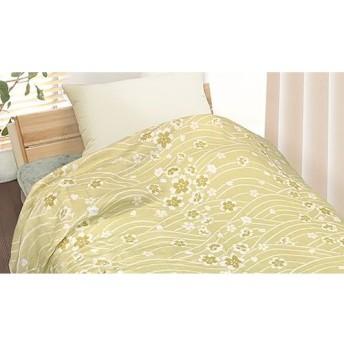 【77%OFF/2色展開】綿100%のサラリと爽やかな肌触りと、寝室へと上品に馴染むさくらプリントが特長。シーズンを問わず使いやすく、昼寝用の肌掛けにも活躍《泉州産 さくらプリント四重織ガーゼケット》 ライフスタイル 寝具 タオルケット・ガーゼケット - 選択してください - au WALLET Market