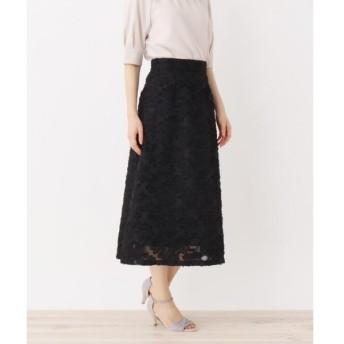 OPAQUE.CLIP / オペーク ドット クリップ 【洗える】刺繍ミモレ丈スカート