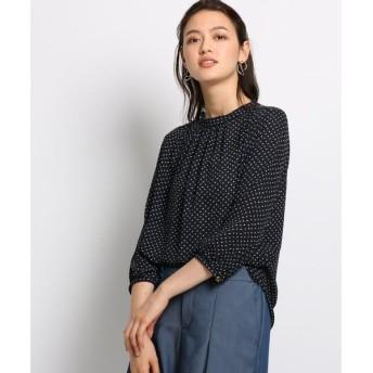 INDIVI / インディヴィ スロープジオメトリックプリントシャツ