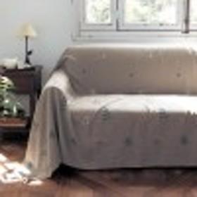 フレンチリネン刺繍のマルチカバー
