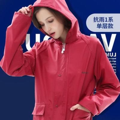 【單人風衣式雨衣-單層款-多規款可選-1款/組】外套風衣全身雨衣男女徒步戶外雨衣 -5201003