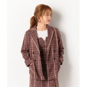 アルシーヴ 先染めチェックテーラージャケット レディース ワイン M 【archives】