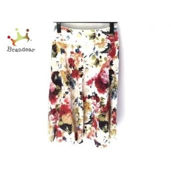 ロイスクレヨン Lois CRAYON スカート サイズM レディース 美品 - - 白×マルチ ひざ丈/花柄 新着 20190814