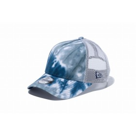 【ニューエラ公式】キッズ 9FORTY A-Frame トラッカー マーブル タイダイ ブルー/グレータイダイ ホワイトメッシュ 男の子 女の子 52 - 55.8cm キャップ 帽子 12119295 NEW ERA