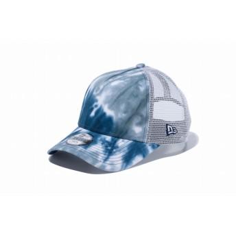 NEW ERA ニューエラ キッズ 9FORTY A-Frame トラッカー マーブル タイダイ ブルー/グレータイダイ ホワイトメッシュ アジャスタブル サイズ調整可能 ベースボールキャップ キャップ 帽子 男の子 女の子 52 - 55.8cm 12119295 NEWERA