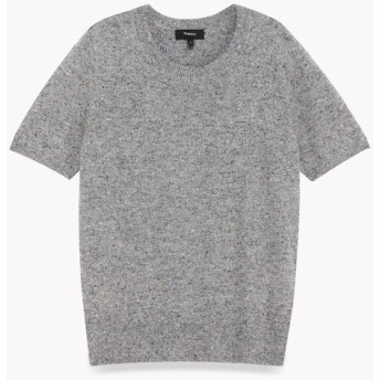 【Theory】Wool Cotton Basic Tee