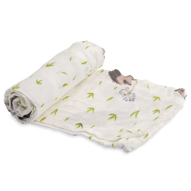 美國 Little Unicorn - 竹纖維紗布巾單入組-刺蝟先生