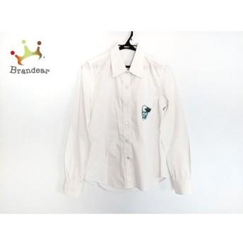 ルシアンペラフィネ 長袖シャツブラウス サイズS レディース 美品 白 スカル/刺繍 新着 20190815