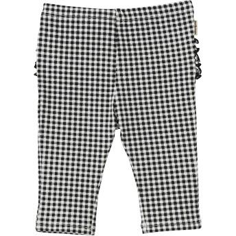 ミキハウス フリル付きパンツ 黒×白