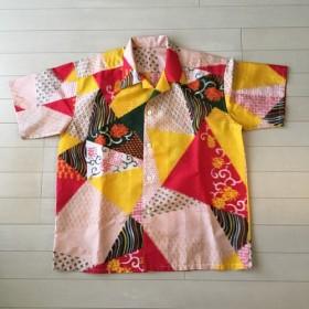 アロハシャツ 男女兼用 着物リメイク