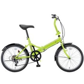 キャプテンスタッグ 折りたたみ自転車 ライヤー FDB206 折り畳み自転車 20インチ 6段変速 軽量  20インチ  グリーン