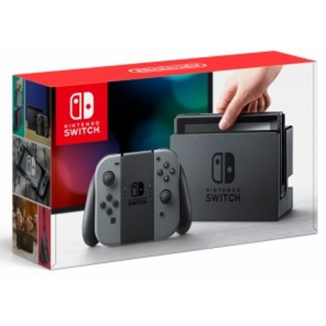 Nintendo Switch 本体 (ニンテンドースイッチ) 【Joy-Con (L) / (R) グレー】(キャンペーンプリペイド番号なし)