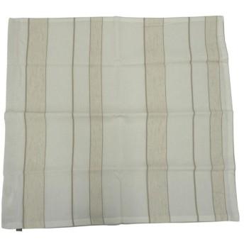 グローバルビレッジ クッションカバー 座布団カバー ライン アイボリー 55×59cm 539342