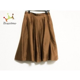 フォクシー FOXEY スカート サイズ42 L レディース ブラウン BOUTIQUE  値下げ 20191003
