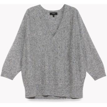 【Theory】Wool Cotton Dolman Vneck S