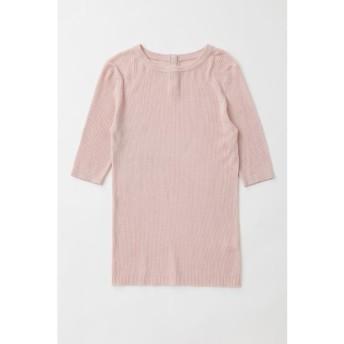 【50%OFF】 マウジー SHELL BUTTON RIB KNIT Tシャツ レディース L/PNK1 FREE 【MOUSSY】 【セール開催中】