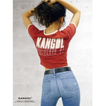 ジェイダ KANGOL×GYDA リンガーショートTシャツ レディース レッド F 【GYDA】
