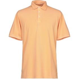《期間限定セール開催中!》FEDELI メンズ ポロシャツ あんず色 52 コットン 100%