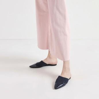 ニット ポインテッドトゥミュール / Knitted Pointed Toe Mules (Dark Blue)