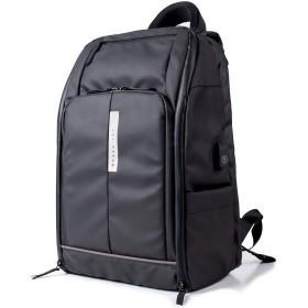 [レットドリーム]LETDREAM リュック メンズ 大容量 ビジネス 通勤 出張 ビジネスバッグ ldr01805 (ブラック/グレー)