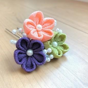 梅とパールのUピン【乾鮭×今紫×抹茶】