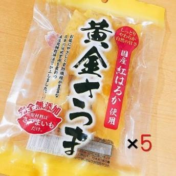 北海道産 黄金さつま こだわり干し芋 紅はるか使用(100g×5袋セット)